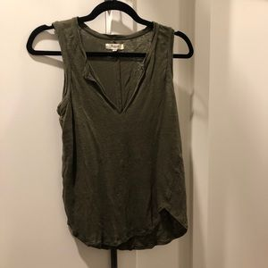 Madewell Tank in Army Green